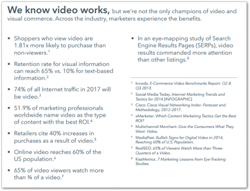 Video ed eCommerce: dati by Invodo