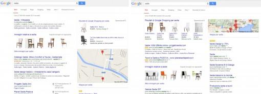 Google Serp: Sedia vs Sedie