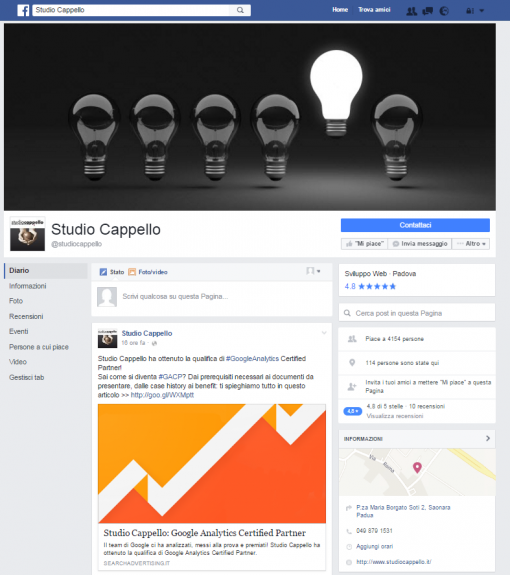 Facbook Nuovo Layout 2016