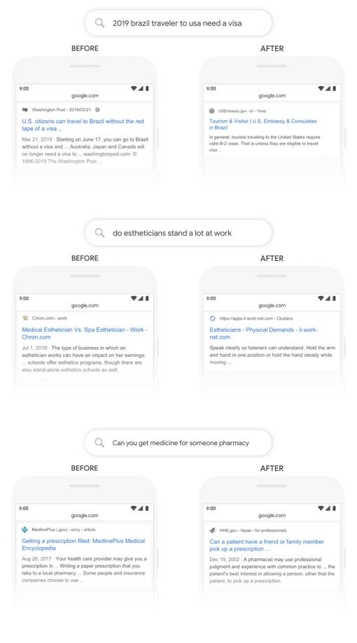 Esempi di Google BERT